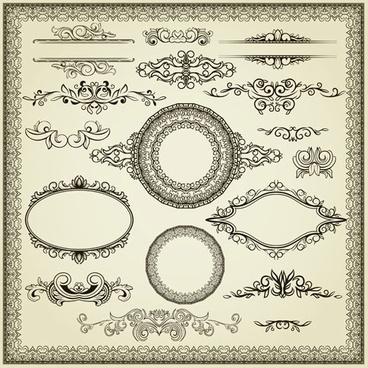 european lace pattern 02 vector