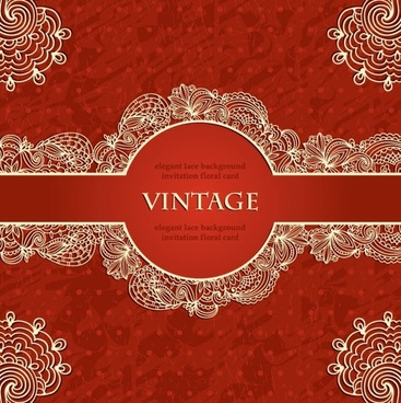 european lace pattern background 02 vector