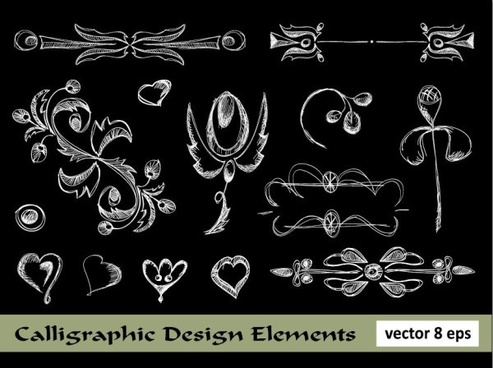 european lace pattern line draft 02 vector