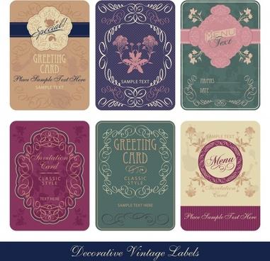 card cover templates elegant retro decor
