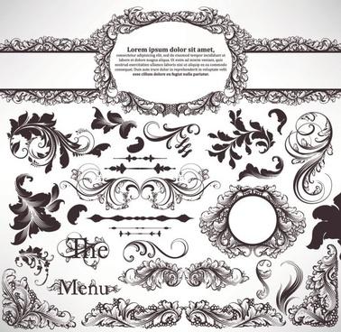 european pattern 03 vector