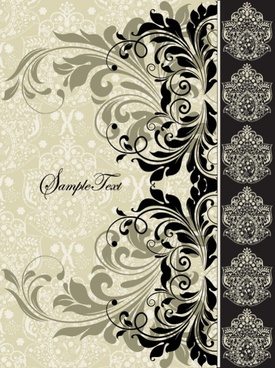 european pattern background 03 vector