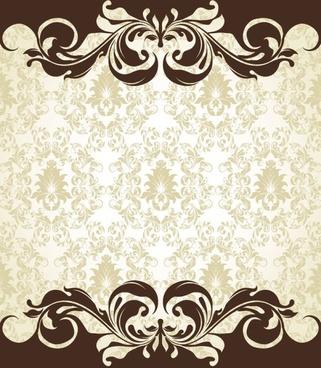 european pattern background 06 vector
