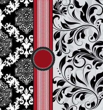 european pattern background cover 01 vector