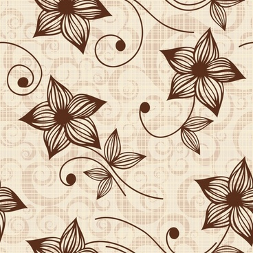 floral pattern classical petals decor repeating design
