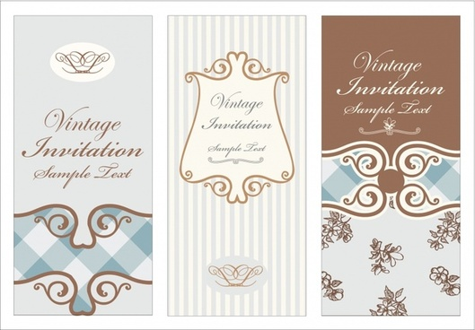 wedding card templates elegant decor vintage design