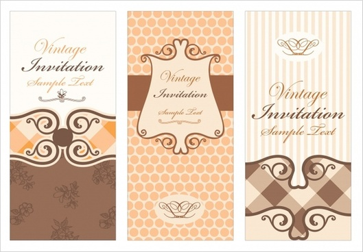 invitation card templates classical elegant decor