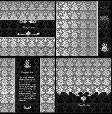 wedding card background template dark european classic decor