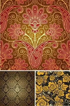 decorative pattern templates elegant retro botanical decor