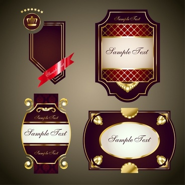 label templates luxury elegant shiny brown decor