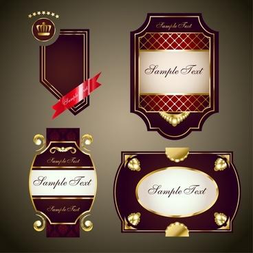 label templates luxury elegant shiny brown decor