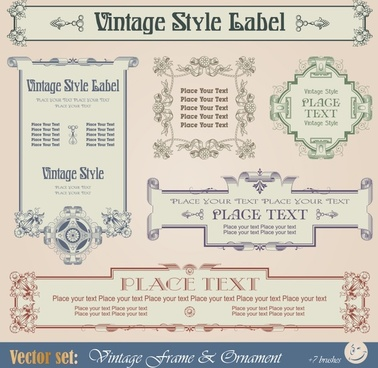 european pattern border label roll angle vector