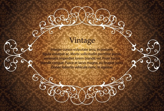 frame template vintage symmetrical seamless design