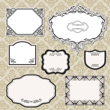 decorative frame templates classical elegant decor