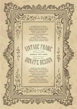 frame template retro symmetrical decor