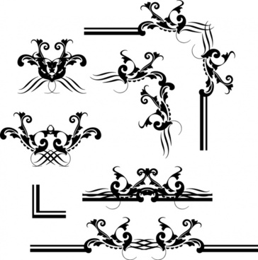 borders decorative elements classical symmetric shapes