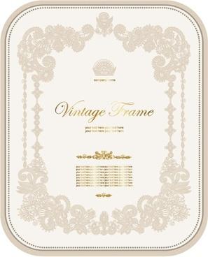 european pattern certificate template 02 vector