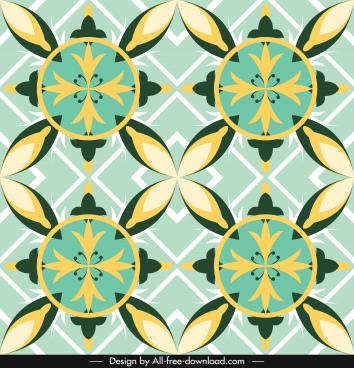 european pattern classic symmetric flat petals sketch
