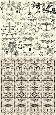 european pattern edges vector