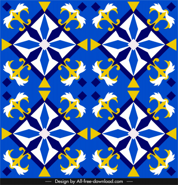 european pattern elegant colorful symmetric flat repeating decor