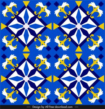 european pattern elegant colorful symmetric flat repeating decor