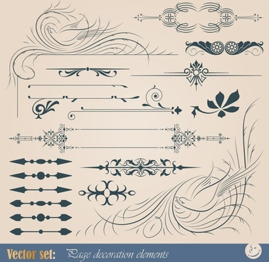 european pattern element vector