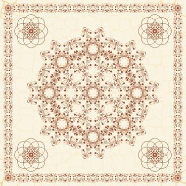 european pattern exquisite papercut vector