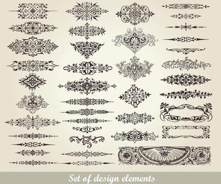 european pattern garland vector