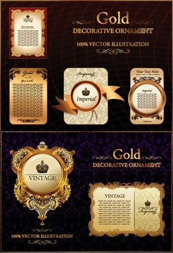 european pattern gold lace pattern vector
