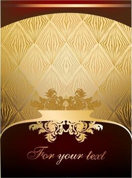 card cover template european elegant luxury classic decor