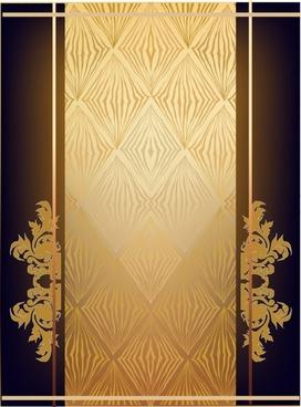 document cover template elegant luxury dark european symmetry