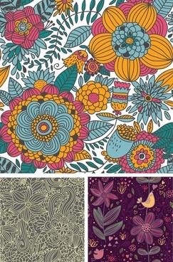 decorative pattern templates elegant retro floral decor