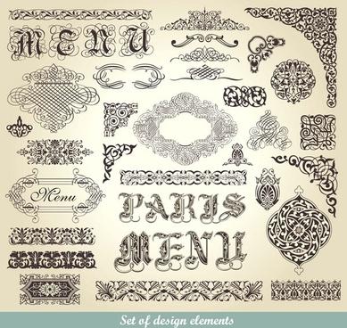 european pattern vector
