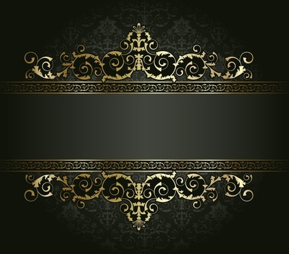 decorative pattern elegant dark retro symmetrical design