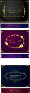 document border template elegant luxury dark symmetric decor