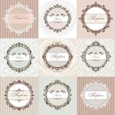 card cover templates luxury european circle symmetric decor