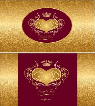 decorative cover templates luxury symmetric imperial elements