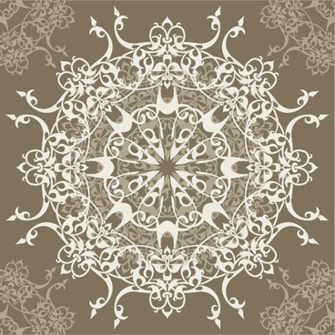 decorative pattern retro design elegant seamless symmetric ornament