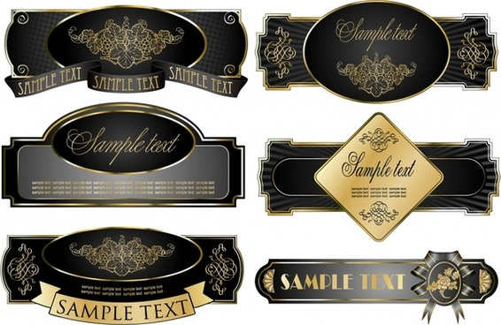 label templates luxury elegant black decor