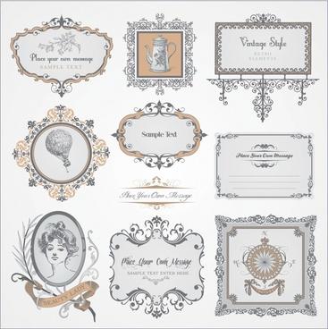 european pattern vector pattern exquisite label