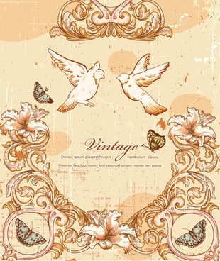 european religious angel dove vintage lace vector