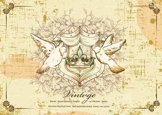 european religious angel pigeon retro butterfly vector