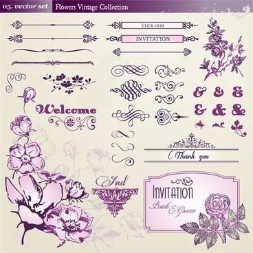 european retro floral lace pattern vector 1