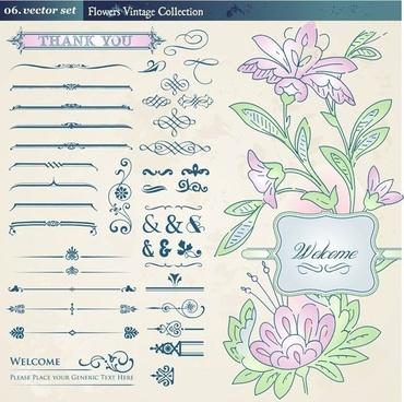 european retro floral lace pattern vector 2