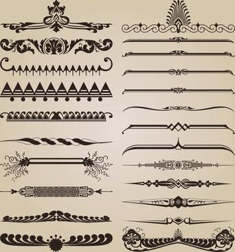 document decorative elements ethnic symmetric design