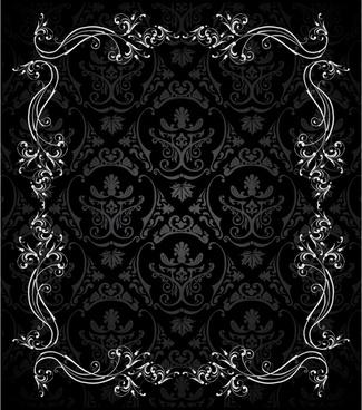european retro ornate lace vector