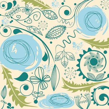 european retro pattern background vector