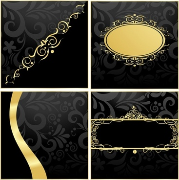 decorative background templates elegant european decor dark golden