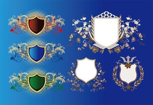 european shield pattern vector