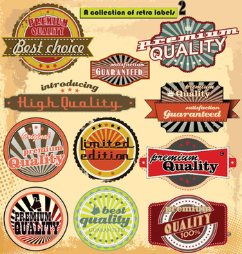 european style classic label vector